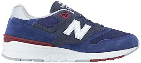 New Balance  ML597  men's Shoes (Trainers) in Blue Image 7
