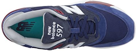New Balance  ML597  men's Shoes (Trainers) in Blue Image 8