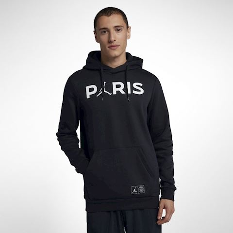 037b19368ab325 Nike Paris Saint-Germain Jumpman Men s Pullover Hoodie - Black Jordan x PSG  Image