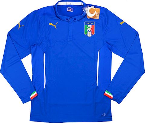 Puma Italy Mens LS Player Issue Home Shirt 2014 Image 2