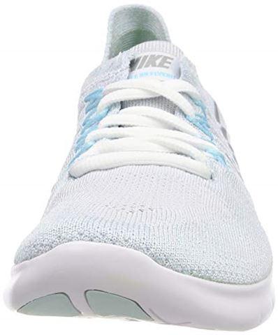 Nike Free RN Flyknit 2017 Women's Running Shoe - Silver Image 4