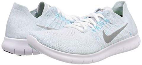 Nike Free RN Flyknit 2017 Women's Running Shoe - Silver Image 5
