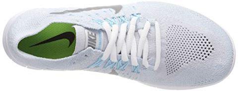 Nike Free RN Flyknit 2017 Women's Running Shoe - Silver Image 7