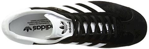 adidas Gazelle Suede Mens Trainers Black/White Image 7