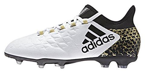 adidas X 16.1 Kids FG AG White Core Black Gold Metallic Image