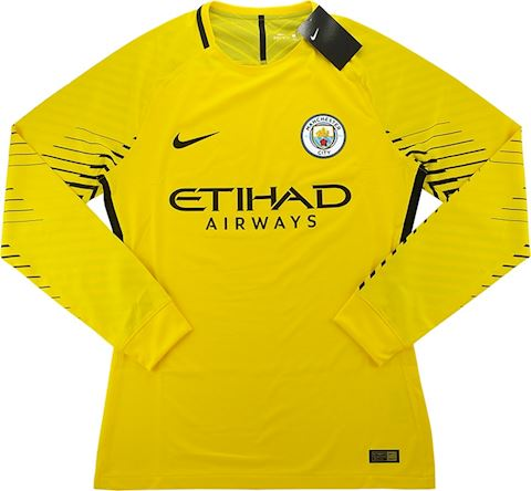 Nike Manchester City Mens LS Goalkeeper Player Issue Away Shirt 2017/18 Image