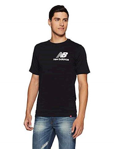New Balance  TEE SHIRT LOGO  men's T shirt in Black Image