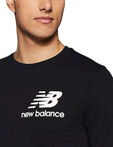 New Balance  TEE SHIRT LOGO  men's T shirt in Black Image 4