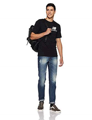 New Balance  TEE SHIRT LOGO  men's T shirt in Black Image 5