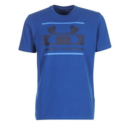 b2f6b900 Under Armour BLOCKED SPORTSTYLE LOGO men's T shirt in Blue | 1305667 ...