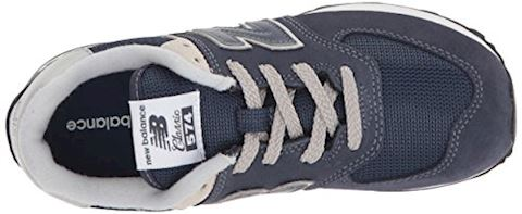 New Balance  574  girls's Shoes (Trainers) in Blue Image 8