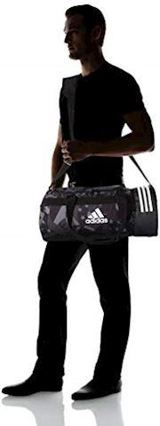 adidas 3-Stripes Convertible Graphic Duffel Bag Small Image 4