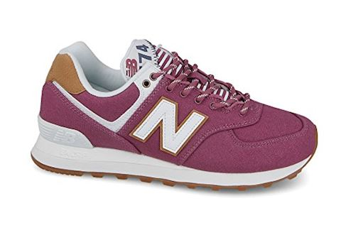 New Balance  WL574  women's Shoes (Trainers) in Pink Image
