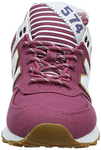 New Balance  WL574  women's Shoes (Trainers) in Pink Image 4