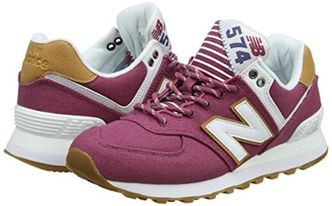 New Balance  WL574  women's Shoes (Trainers) in Pink Image 5