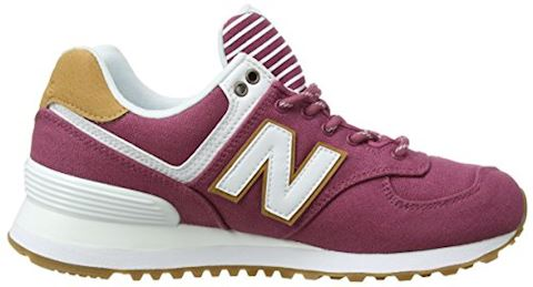 New Balance  WL574  women's Shoes (Trainers) in Pink Image 6