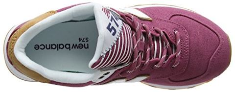 New Balance  WL574  women's Shoes (Trainers) in Pink Image 7