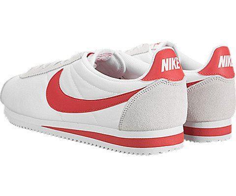 Nike Classic Cortez Nylon Unisex Shoe - White Image 4