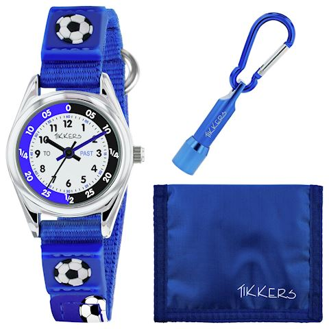 Tikkers Blue Football Watch, Wallet and Torch Set Image