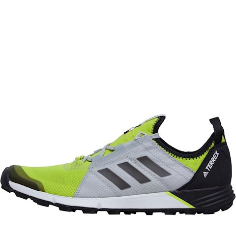 8347e03f506bed adidas Mens TERREX Agravic Speed Trail Running Shoes Semi Solar Yellow Core  Black Grey