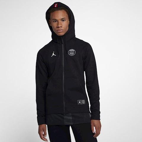 Nike Jordan x PSG Wings Men's Full-Zip Hoodie - Black Image