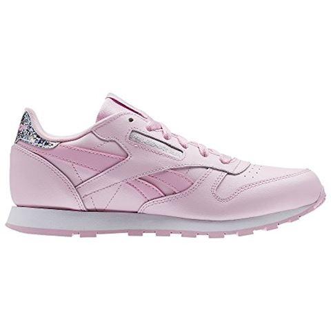 Reebok Classics Junior Girls Leather Pastel Trainers Charming PinkWhite