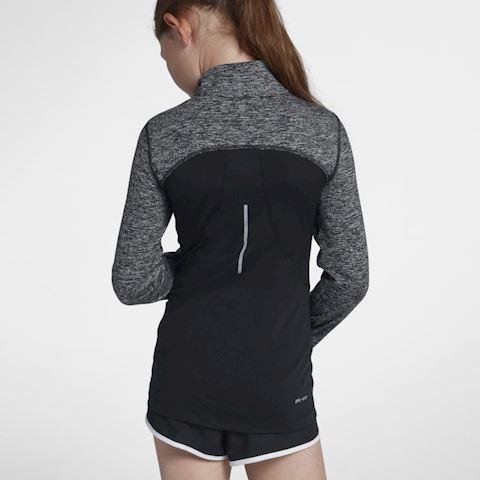 Nike Dri-FIT Older Kids' (Girls') Half-Zip Running Top - Black Image 3