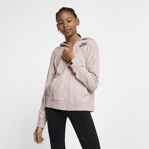 Nike Air Older Kids' (Girls') Full-Zip Hoodie - Pink Image