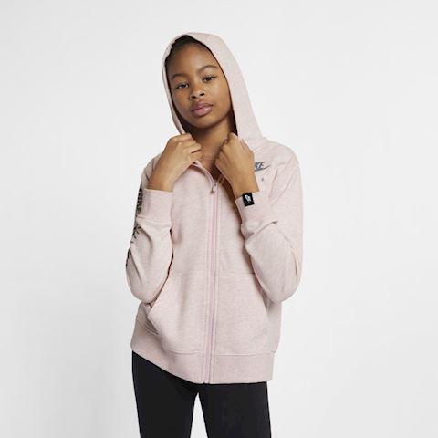 Nike Air Older Kids' (Girls') Full-Zip Hoodie - Pink Image 3