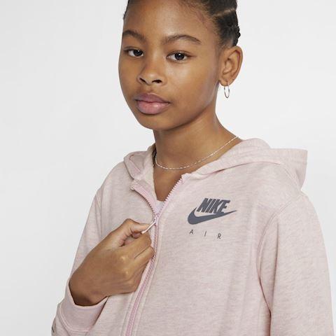 Nike Air Older Kids' (Girls') Full-Zip Hoodie - Pink Image 5