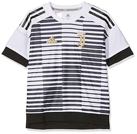 adidas Juventus Training T-Shirt Pre Match Parley - White/Black Kids Image