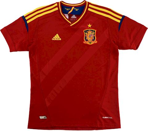 adidas Spain Kids SS Home Shirt 2011 Image 2