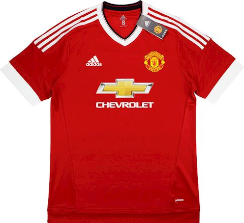 adidas Manchester United Mens SS Player Issue Home European Shirt 2015/16 Image