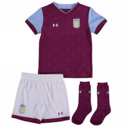 Under Armour Aston Villa Kids SS Home Mini Kit 2017/18