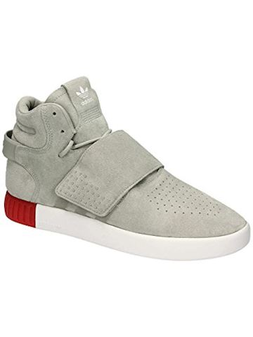 new arrival a8b0b ec04d adidas Tubular Invader Strap Suede Mens Trainers Cream