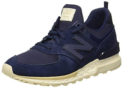 New Balance  MS574  women's Shoes (Trainers) in Blue Image