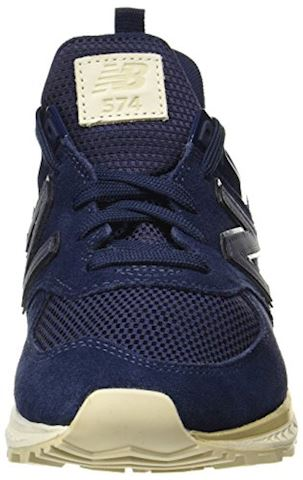 New Balance  MS574  women's Shoes (Trainers) in Blue Image 4