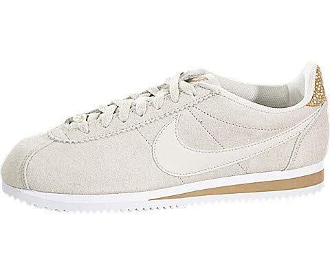 buy online a5e39 556da Nike CLASSIC CORTEZ PREMIUM W women's Shoes (Trainers) in Beige