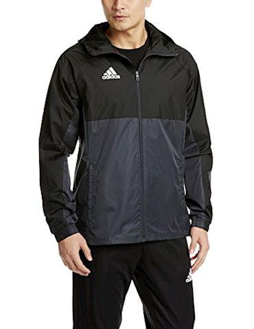 adidas Tiro 17 Rain Jacket Black Dark Grey White Image