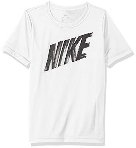Nike Dry T-Shirt - White/Black Kids Image