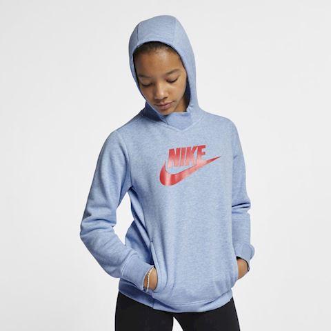 Nike Sportswear Older Kids' (Girls') Graphic Pullover Hoodie - Blue Image