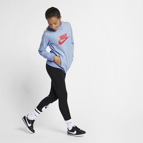 Nike Sportswear Older Kids' (Girls') Graphic Pullover Hoodie - Blue Image 2