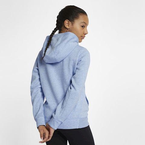 Nike Sportswear Older Kids' (Girls') Graphic Pullover Hoodie - Blue Image 3