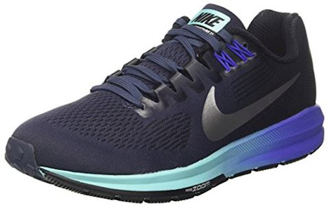 Nike Air Zoom Structure 21 Women's Running Shoe - Blue Image 9