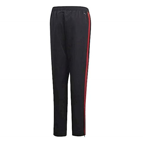 adidas Manchester United Training Trousers Woven - Black/Red/Core Pink Kids Image 2