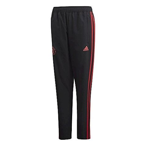 adidas Manchester United Training Trousers Woven - Black/Red/Core Pink Kids Image 3