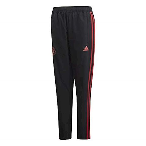 adidas Manchester United Training Trousers Woven - Black/Red/Core Pink Kids Image 6