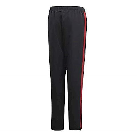 adidas Manchester United Training Trousers Woven - Black/Red/Core Pink Kids Image 7