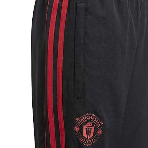 adidas Manchester United Training Trousers Woven - Black/Red/Core Pink Kids Image 9