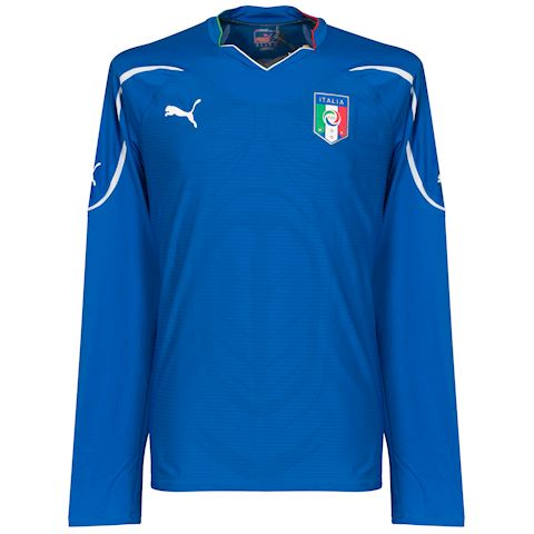 Puma Italy Mens LS Player Issue Home Shirt 2010 Image